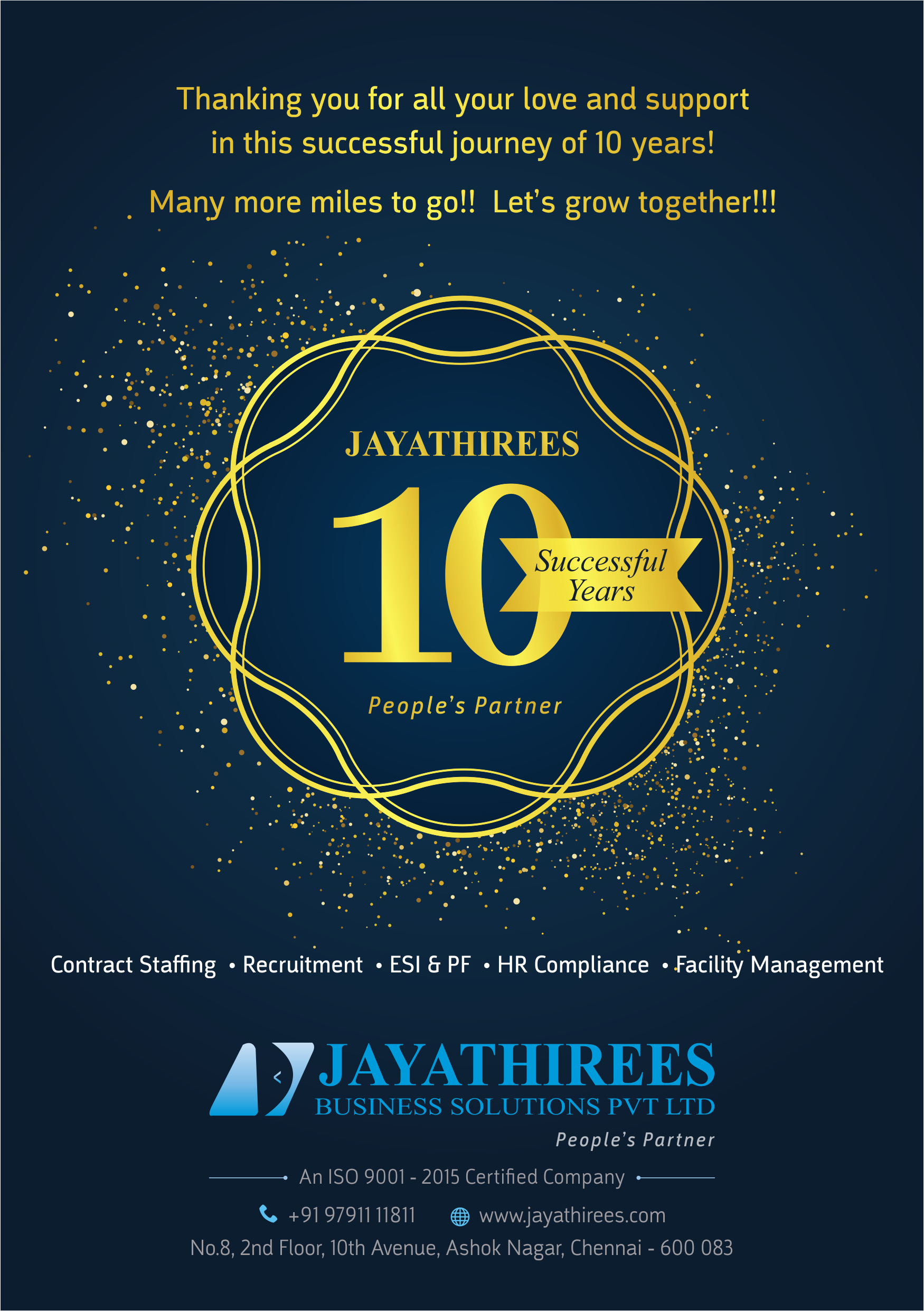 jayathirees 10th nniversary